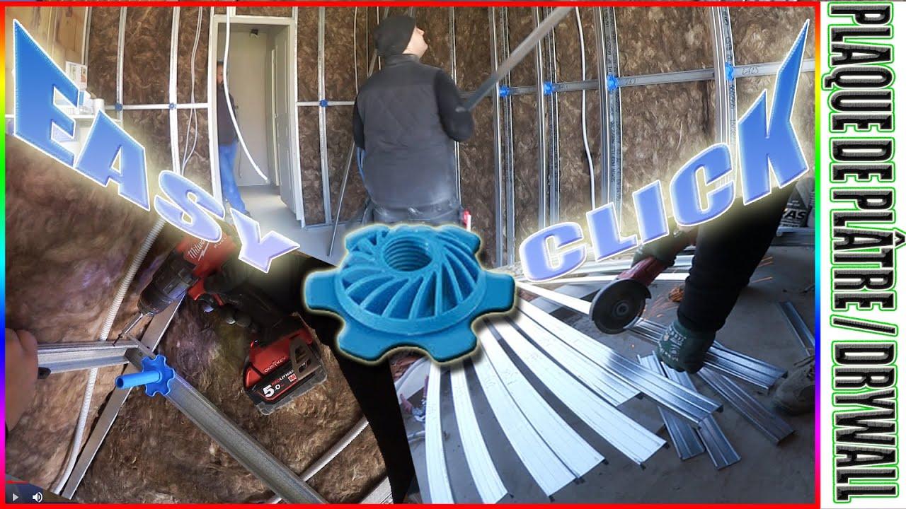 48 Installation Totale Du Système Easy Click Spécial Cloison Séparative Isolante Garage Knauf