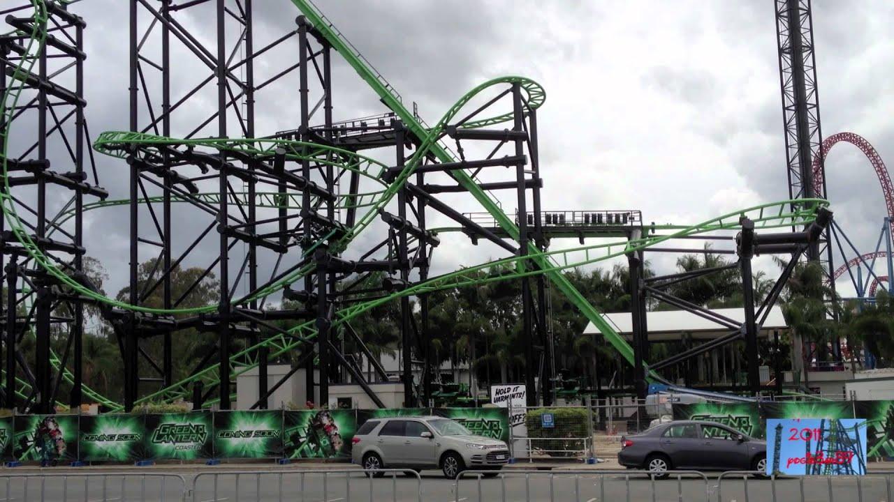 Green Lantern Coaster Movie World Australia Youtube