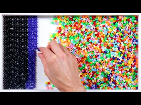 1,600 Beads Sorted By Color