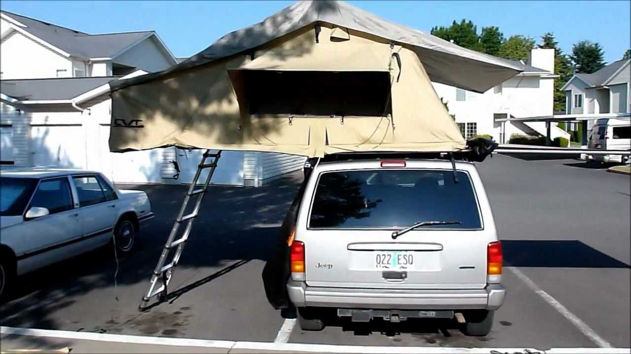 & Cascadia Vehicle Tents - CVT - Mt. Rainier - Jeep Cherokee - YouTube