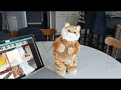 Dancing Cat Speaker - Robotic Moving Cat Dances To Your Music