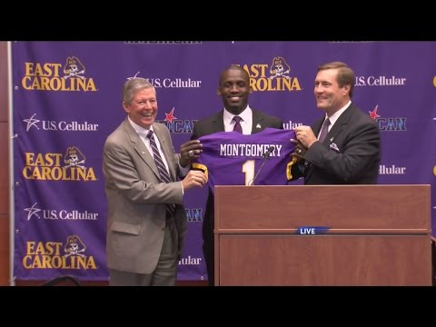 Scottie Montgomery formally introduced as new ECU head footb