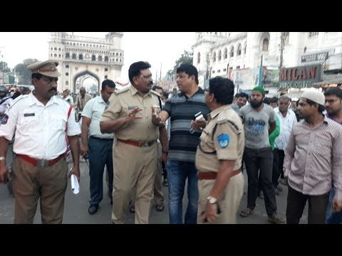 Traffic Inconvenience at Charminar Pushcart vendors Counsel by Sohail Quadri AIMIM Corporator