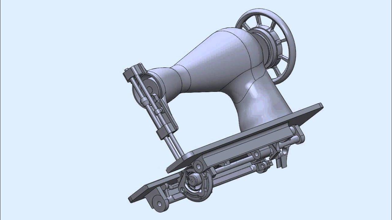 Máquina de coser (Diseño en SolidWorks) - YouTube