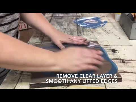 Using Vinyl Stencils to Paint Wood Signs