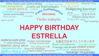 Estrella   Languages Idiomas - Happy Birthday
