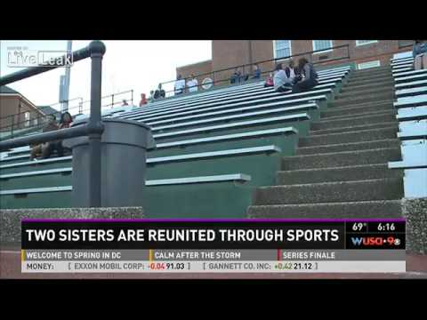Sisters separated at birth discover each other at track meet