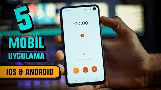 Her Telefonda Olması Gereken 5 MOBİL UYGULAMA - iOS & Android