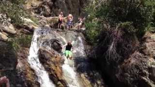 Natural water slide, Alpine Utah