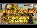 TOP 5? ROBOS MILLONARIOS + PROMOCION DE CLANES #9 - Clash of Clans - Español - CoC