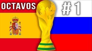Jugando a Rusia 2018 Rusia vs España