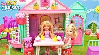 バービーの妹 チェルシーのお家とすべり台セットで遊びました。 チェル...