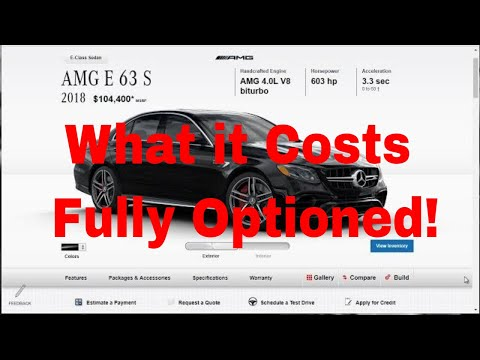2018 Mercedes AMG E63 S 4Matic Sedan - Build Price and Option - Build Your Own Mercedes E63 AMG