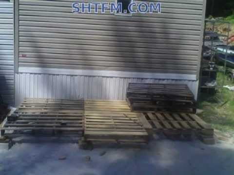 Diy Pallet Shed With Stucco Siding Part 1 Youtube
