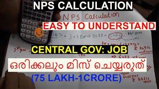 SSC GD Retirement Amount Calculation | NPS