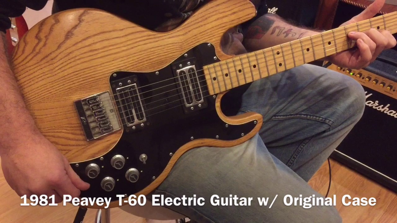 1981    Peavey       T      60       Electric    Guitar Natural Finish  YouTube