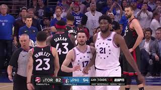 Pascal Siakam Appeared To Purposely Trip Joel Embiid In Game 3