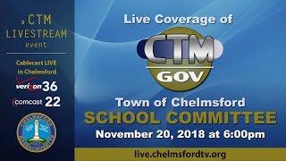 Chelmsford School Committee Nov. 20, 2018