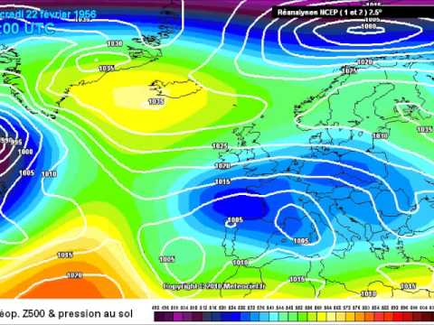 Europe Winter 1956 Ncep Archive At Meteociel