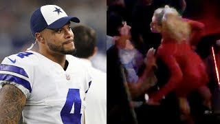 Dak Prescott's Girlfriend PUNCHES a Guy in the Nuts at a Club, Finishes Dancing