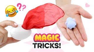 EASY MAGIC TRICKS You Can Do In SCHOOL!! School Pranks & Magic Using Squishies!