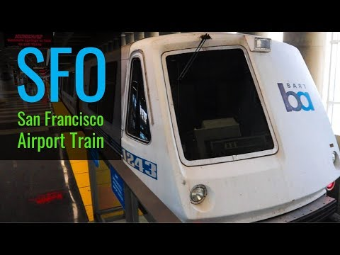 San Francisco Airport Train To City - On The BART