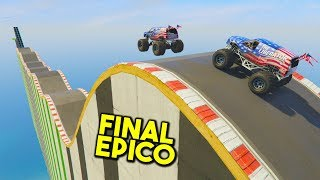 FINAL ÉPICO CON MONSTER TRUCKS! - CARRERA GTA V ONLINE - GTA 5 ONLINE
