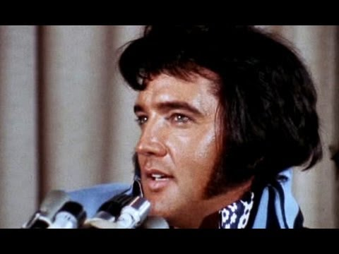 ELVIS - INTERVIEW MADISON SQUARE GARDEN DE NEW-YORK EN JUIN 1972 - EN FRANCAIS