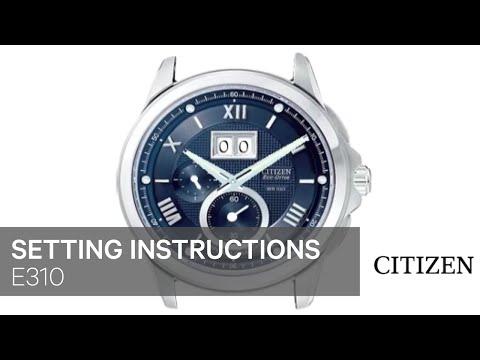 62441d30efa OFFICIAL CITIZEN E310 Setting Instruction - YouTube