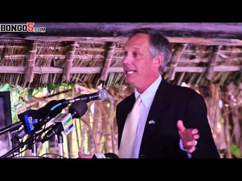 US ambassador in Tanzania, Mark Childres speaking at WildAid's Anti - Poaching in Tanzania