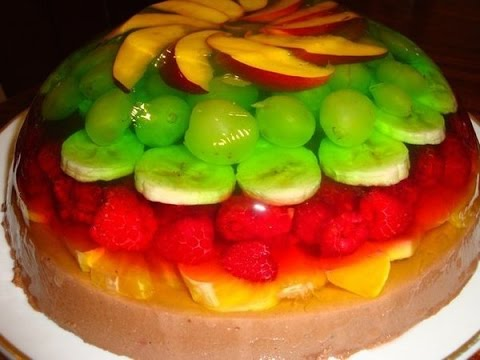 желе с фруктами рецепт видео