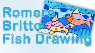 Art Exploration - Romero Britto Fish Drawing