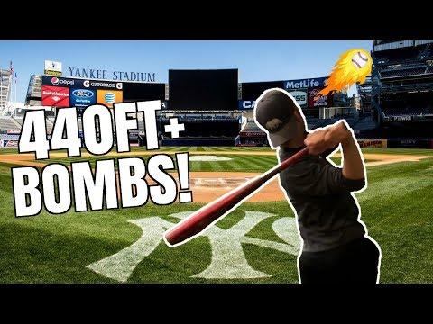 Can I Hit A Home Run at YANKEE Stadium? 440FT DINGER! IRL Baseball Challenge