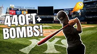 Can I Hit A Home Run at YANKEE Stadium? IRL Baseball Challenge! ...