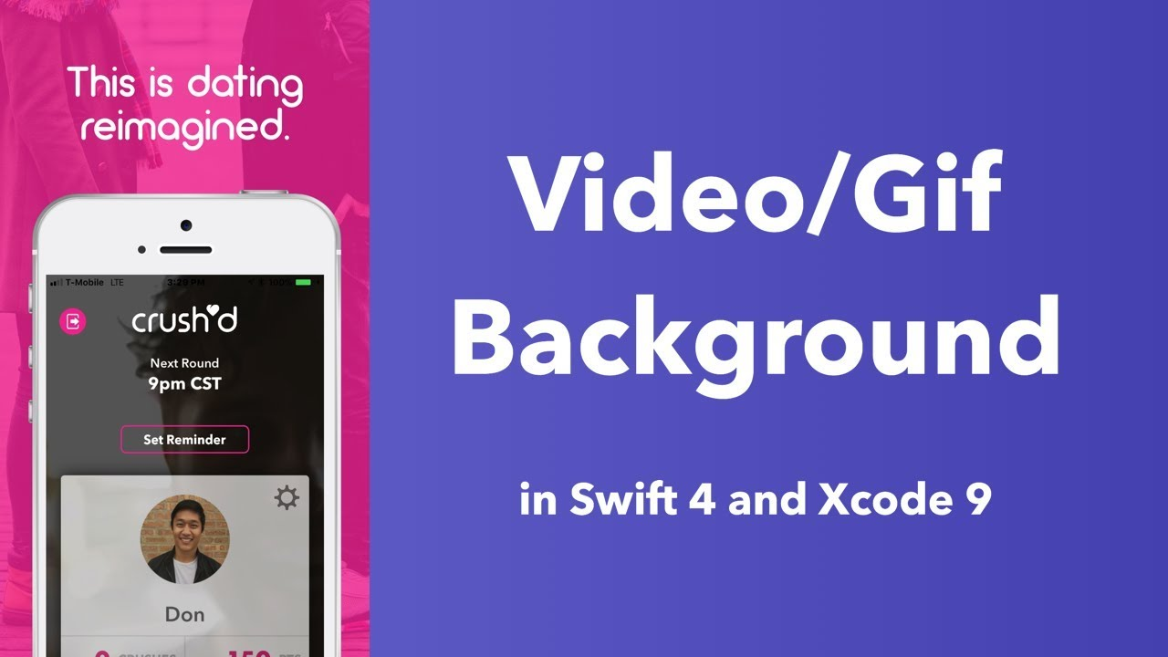 iOS Video Tutorial: Create a Video/Gif Background View (Swift 4 in Xcode 9)