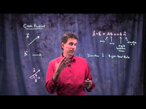 Angular momentum and cross product
