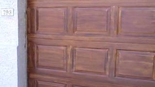 How To Woodgrain Garage Door - Part 14 Overview Of 1st Glaze!