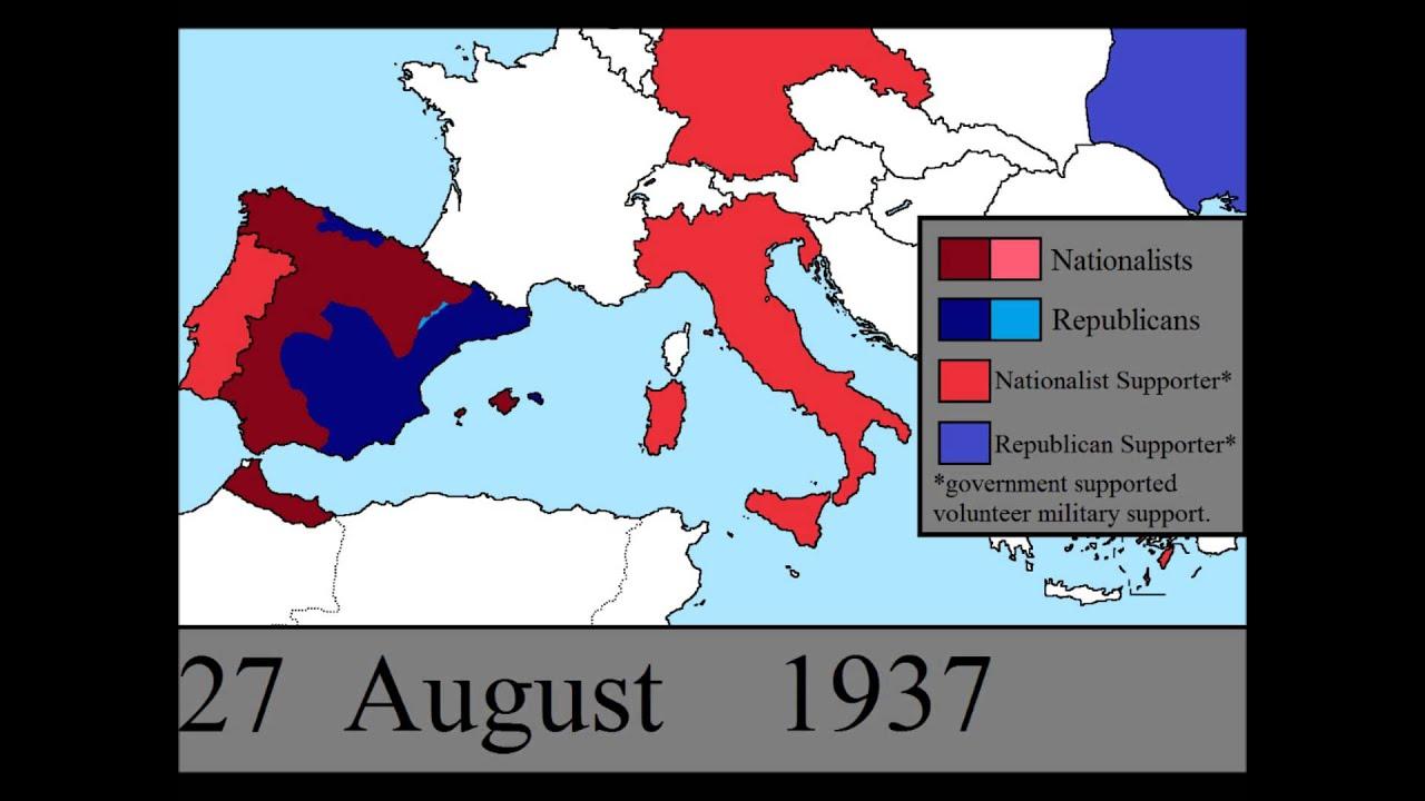 spanish civil war map