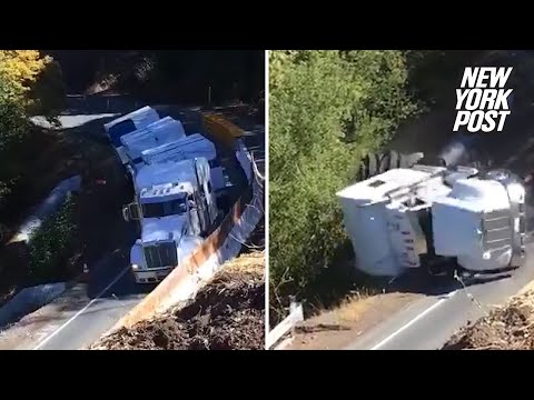 Tanner and Drew - Truck Topples Down Cliff After Driver Ignored Warnings