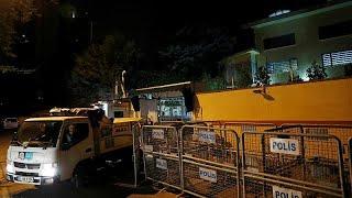شاهد: الشرطة التركية تغادر القنصلية السعودية في اسطنبول…