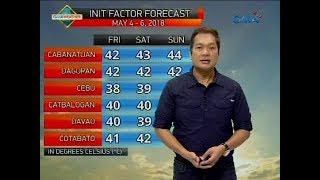 Weather update as of 6:15 a.m. (May 4, 2018)