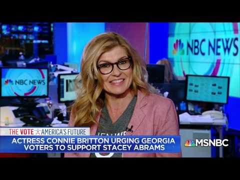 Connie Britton on working with Michelle Obama | Andrea Mitchell Reports | MSNBC