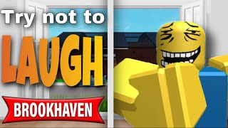 Try not to laugh Brookhaven funny moments 😂 YouTube
