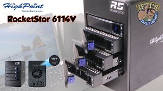HighPoint RocketStor 6114V USB-C/USB3.1 External RAID Storage Solution! : REVIEW