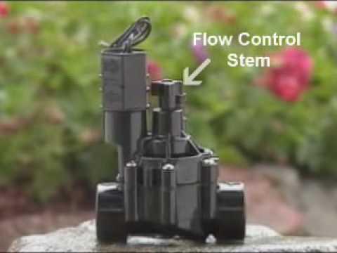 Rain Bird Valves Adjusting The Flow Control Youtube
