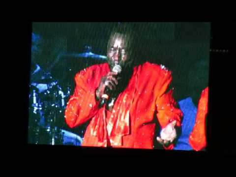 "THE O'JAYS IN CONCERT AT  FAIR SINGING ""LIVING  FOR THE WEEKEND"""