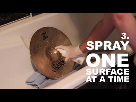 HOW TO CLEAN YOUR CYMBALS