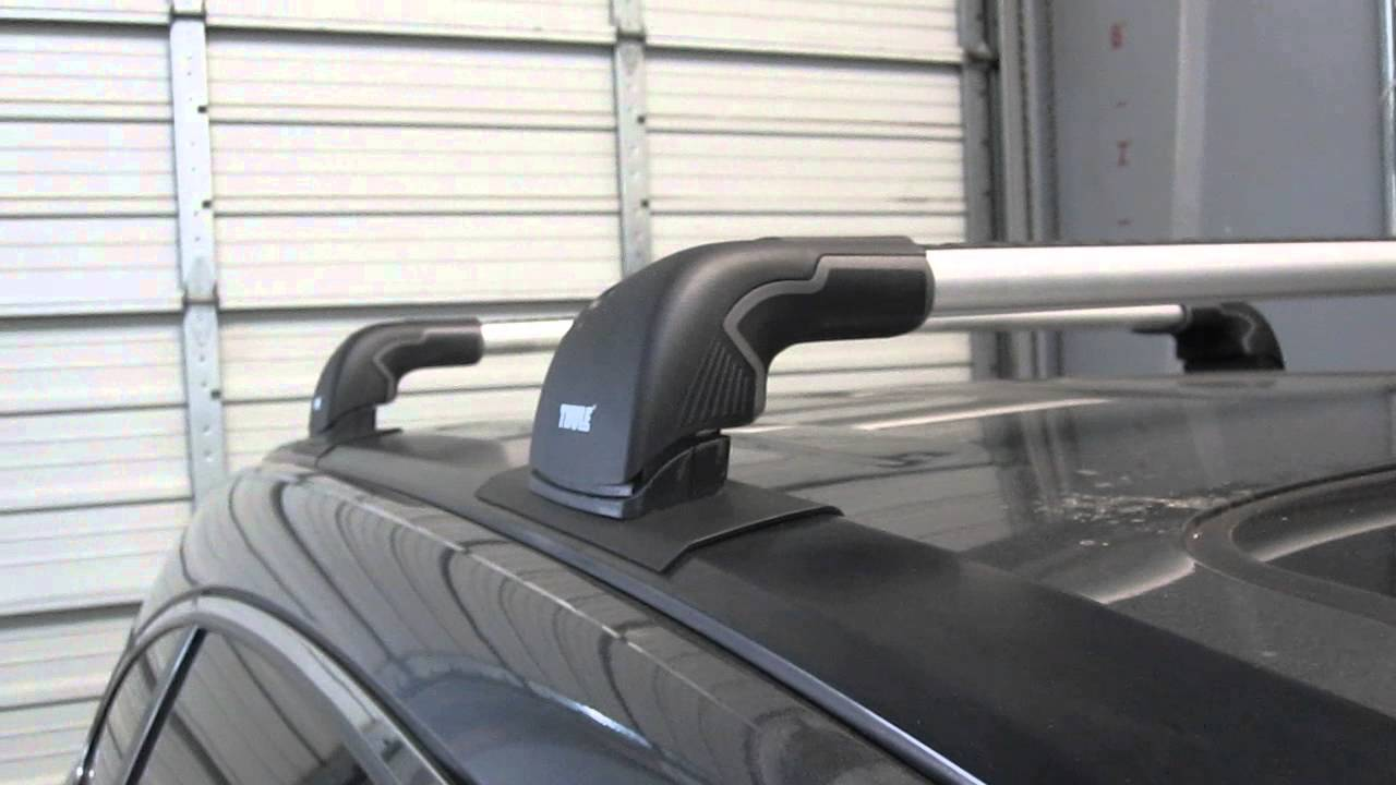 Honda CR V 2007 Thru 2012 With Thule AeroBlade EDGE Roof Rack By Rack  Outfitters   YouTube