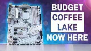 Affordable Coffee Lake Motherboards Are Here -  MSI B360 Gaming Arctic Review (GIVEAWAY)