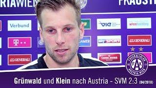 Klein und Grünwald zur Niederlage gegen Mattersburg